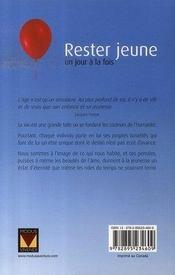 Rester jeune un jour à la fois (édition 2007) - 4ème de couverture - Format classique