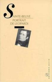 Portrait De Leopardi - Couverture - Format classique