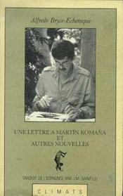Lettre a martin romana et - Couverture - Format classique