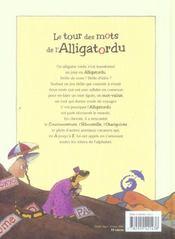 Le tour des mots de l'alligatordu - 4ème de couverture - Format classique