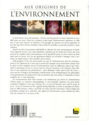 Aux origines de l'environnement - 4ème de couverture - Format classique