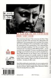 Le plus sublime des hystériques ; Hegel avec Lacan - 4ème de couverture - Format classique