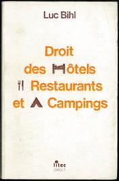 Droit Des Hotels Restaurants Et Campings - Couverture - Format classique