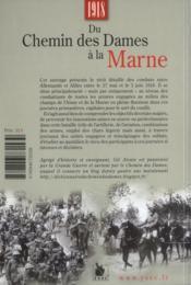 1918 Du Chemin Des Dames A La Marne Offensive Allemande Et Resistance Alliee - 4ème de couverture - Format classique