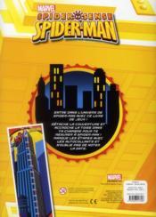 Spider sense , spider-man ; toiles de jeux ; avec une toise - 4ème de couverture - Format classique