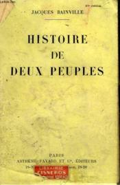 Histoire De Deux Peuples Continuee Jusqu'A Hitler. - Couverture - Format classique