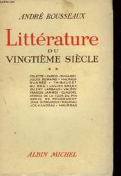 Litterature Du Vingtieme Siecle. Tome 2. - Couverture - Format classique