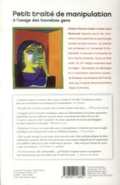 Petit traité de manipulation à l'usage des honnêtes gens (3e édition) - 4ème de couverture - Format classique