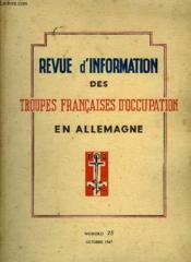 Revue D'Information Des Troupes Francaises D'Occupation En Allemagne - Numero 25 - Couverture - Format classique