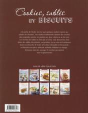 Cookies, sablés et biscuits - 4ème de couverture - Format classique