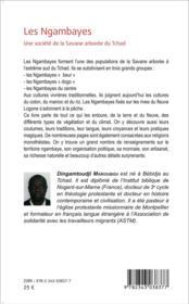 Les Ngambayes ; une société de la savane arborée du Tchad - 4ème de couverture - Format classique