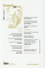 Réfractions N.34 ; comment déjouer les séductions de l'extrême-droite? - 4ème de couverture - Format classique