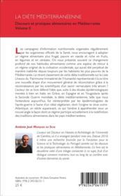 La diete mediterraneenne - discours et pratiques alimentaires en mediterranee volume ii - 4ème de couverture - Format classique