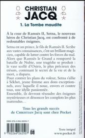 Les enquêtes de Setna t.1 ; la tombe maudite - 4ème de couverture - Format classique