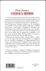 Animaux homos ; histoire naturelle de l'homosexualité - 4ème de couverture - Format classique