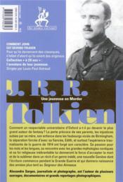 Tolkien à 20 ans - 4ème de couverture - Format classique