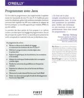 Programmer avec Java - 4ème de couverture - Format classique