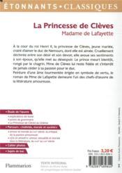 La princesse de Clèves - 4ème de couverture - Format classique