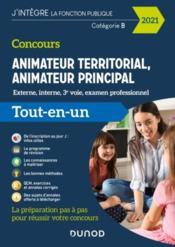 Concours animateur territorial, animateur principal ; externe, interne, 3e voie, examen professionnel (édition 2021) - Couverture - Format classique