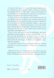 Saga des sturlungar (la) - 4ème de couverture - Format classique
