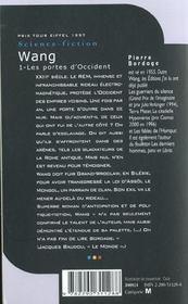 Wang t.1 ; les portes d'Occident - 4ème de couverture - Format classique