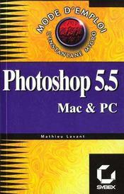 Photoshop 5 et 5.5 mode d'emploi - Intérieur - Format classique