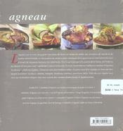 Agneau - 4ème de couverture - Format classique