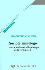 Socioterminologie - Intérieur - Format classique