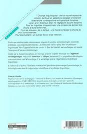 Socioterminologie - 4ème de couverture - Format classique