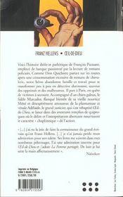 Oeil-de-dieu - 4ème de couverture - Format classique