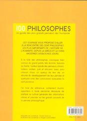 100 philosophes - 4ème de couverture - Format classique