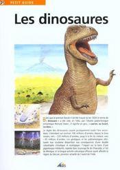 Petit Guide T.21 ; Les Dinosaures - Intérieur - Format classique