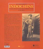 Photographes en indochine - 4ème de couverture - Format classique