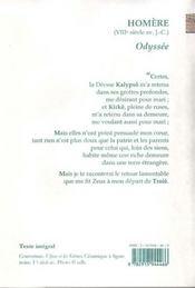 Odyssée - 4ème de couverture - Format classique