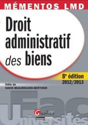Droit administratif des biens (8e édition) - Couverture - Format classique
