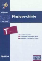 Physique/Chimie - Terminale Serie S - Couverture - Format classique