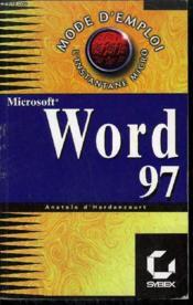 Mode d'emploi : word 97 - Couverture - Format classique