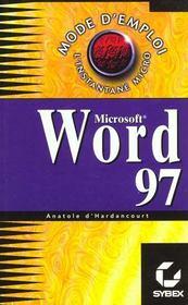 Mode d'emploi : word 97 - Intérieur - Format classique