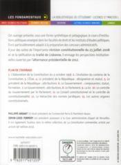 Les institutions de la Ve République (14e édition) - 4ème de couverture - Format classique
