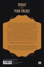 Minuit au Pera Palace ; la naissance d'Istanbul - 4ème de couverture - Format classique