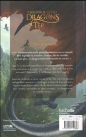 Chroniques des dragons de Ter - livre 2 ; le dragon noir - 4ème de couverture - Format classique