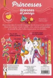 Princesses, licornes et poneys - 4ème de couverture - Format classique