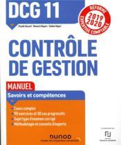 DCG 11 ; contrôle de gestion ; manuel (édition 2019/2020) - Couverture - Format classique