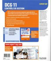 DCG 11 ; contrôle de gestion ; manuel (édition 2019/2020) - 4ème de couverture - Format classique