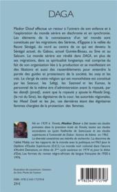 Daga ; textes sur la culture serere - 4ème de couverture - Format classique
