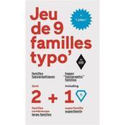 Jeu de 9 familles typographiques - Couverture - Format classique