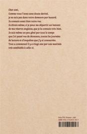 Lettres à Camondo - 4ème de couverture - Format classique