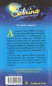 Sabrina T.4 ; Un Invite Surprise - 4ème de couverture - Format classique
