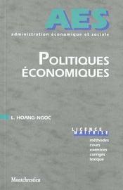 Politiques économiques - Intérieur - Format classique