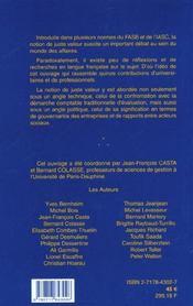 Juste Valeur ; Enjeux Techniques Et Politiques ; Gestion ; Edition 2001 - 4ème de couverture - Format classique